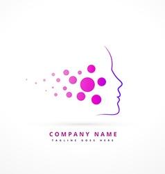Skin face company symbol design vector