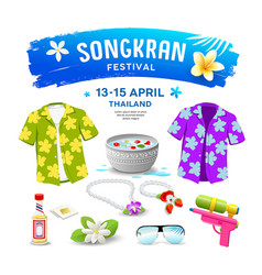 songkran festival thailand collections isolated vector image