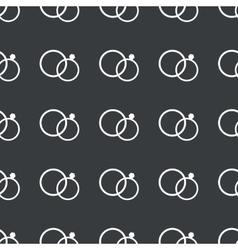 Straight black wedding rings pattern vector