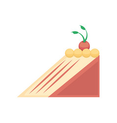 sweet cake delicious isolated icon vector image