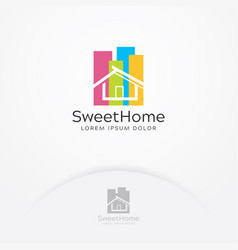 Sweet home logo design vector