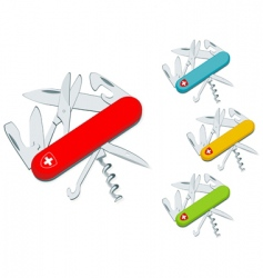 swiss knife vector image