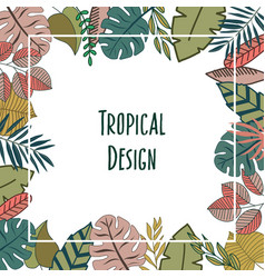tropic design border frame vector image