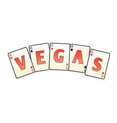 vegas cards isolated vector image