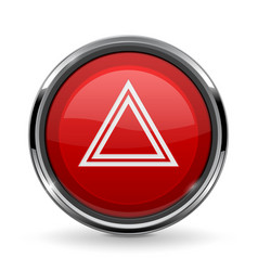 Warning light button car dashboard element vector