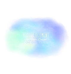 Watercolor spot light blue colors vector
