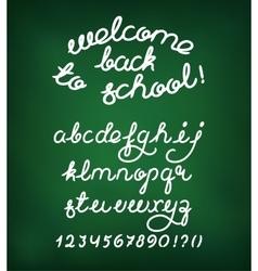 Welcome back to school Handwritten alphabet vector