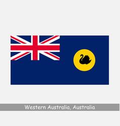 Western australia australian state flag wa au vector