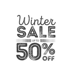 Winter sale poster design template creative vector