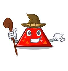 Witch triangel mascot cartoon style vector