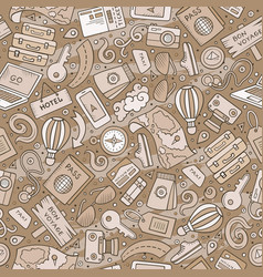 cartoon traveling seamless pattern with lots of vector image