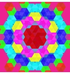Colorful geometric pattern in rainbow colors vector image