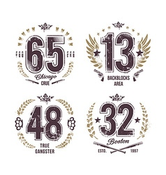 Grunge Numbers vector image