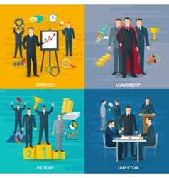 Leadership concept icons set vector