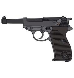 Old handgun vector