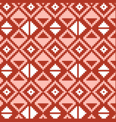 pixel triangles seamless pattern vector image