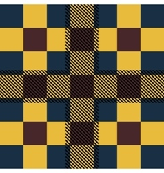 Set seamless British tartan pattern Plaid brown vector image