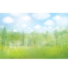 spring forest background vector image vector image