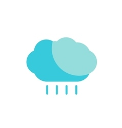 blue cloud with rain colored flat icon vector image vector image
