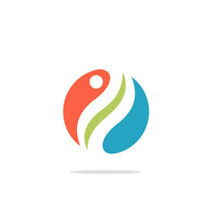 circle swirl ecology logo vector image