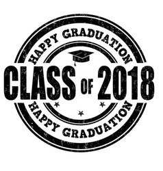 class of 2017 stamp vector image