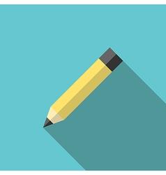 Graphite pencil long shadow vector image vector image