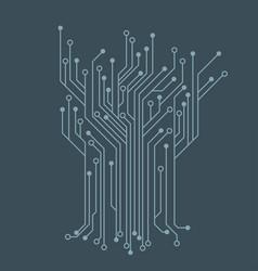 microelectronics circuits blue circuit board vector image