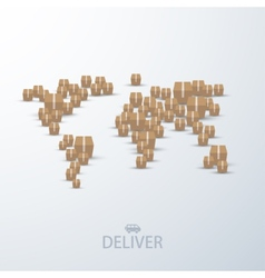 modern concept delivery background vector image