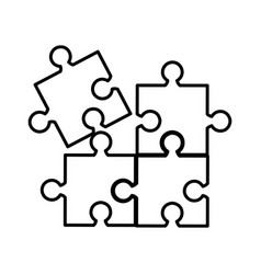 puzzle game isolated icon vector image vector image