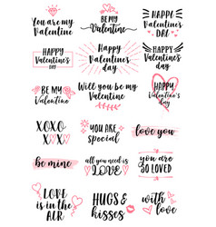 valentines day cards set vector image