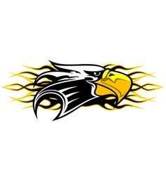 eagle cartoon mascot vector image vector image