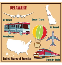 Flat map of Delaware vector image