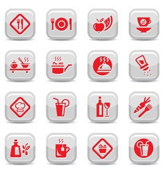 food type icon set vector image vector image
