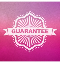 guarantee sign vector image vector image