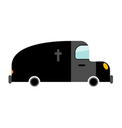 hearse funeral car isolated transport on white vector image vector image