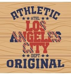 Los Angeles California sport vector image vector image