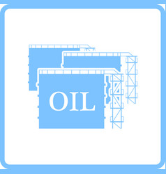 oil tank storage icon vector image