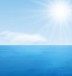 Sea Landscape Calm Blue Ocean vector image vector image