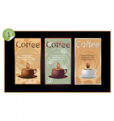 set of coffee banners vector image