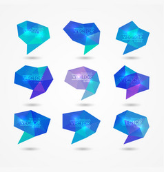 set of triangular speech bubbles vector image