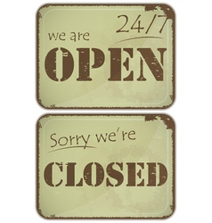sign open closed vector image vector image