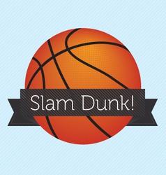 Slam Dunk Banner vector image vector image