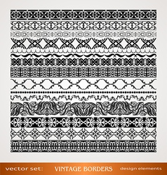 Vintage style ornamental borders vector image