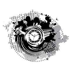 card with the clock on it vector image vector image