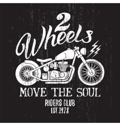 Custom Motorcycle Print vector image