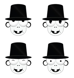 funny and cute people head vector image vector image