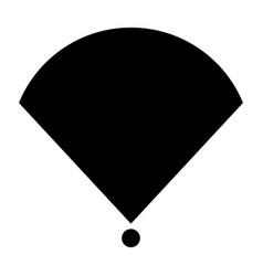 location or radar the black color icon vector image