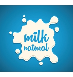 milk splodge blue background vector image