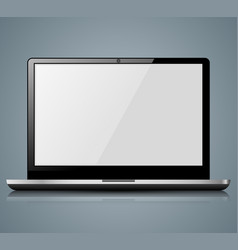 notebook icon with white reflect vector image vector image