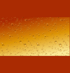 realistic beer soda champagne bubbles vector image vector image